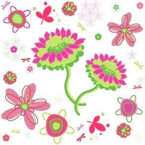 Fancy Garden Floral! - Summertime Fun! - Watermelon - © PinkSodaPop 4ComputerHeaven.com