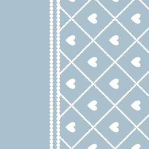 Never Far Away - Border Fabric (color: porcelain blue)