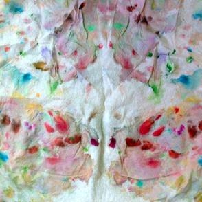 Rainbow Rorschach Abstract T1