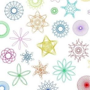 gear-drawn spiral designs!