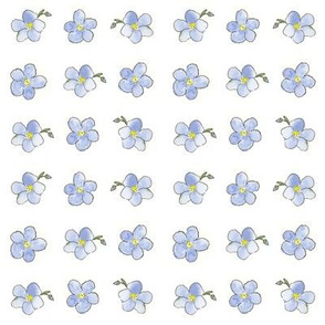 Blue Flower Dot