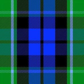 "Graham of Menteith clan tartan, 9"" modern colors"
