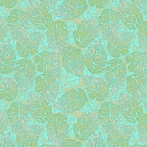 leaves apart turquoise