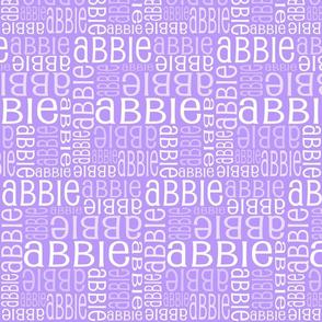 Personalised Name Fabric - Purple/Pink 5