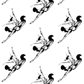 Inkblot Flying Ballet Leap