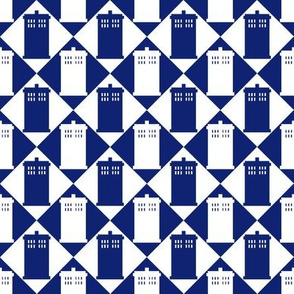 Harlequin Blue Box blue and white - Large