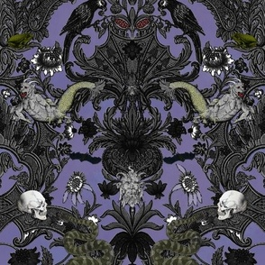 This Is Halloween! Haunted House Damask ~ Decaying Mansion