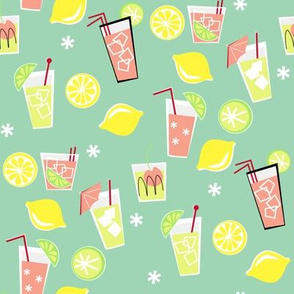 Pink Lemonade on seafoam