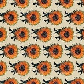 Sunflowers on Cream | Van Gogh by BohoBear