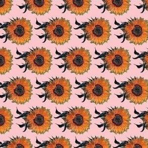 Sunflowers on Pink | Van Gogh by BohoBear