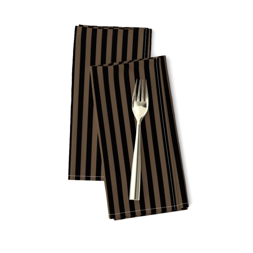 Amarela Dinner Napkins featuring Steampunk - Black and brown stripes by itzuki87