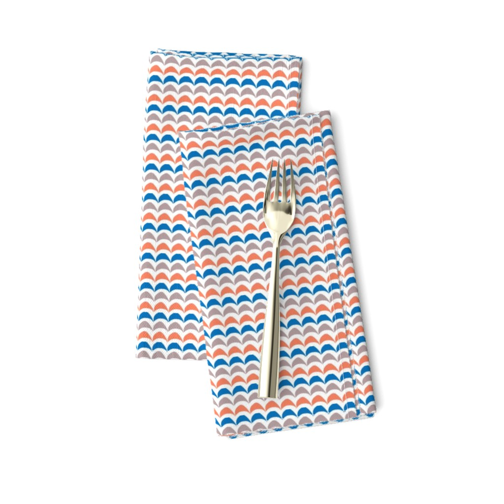 Amarela Dinner Napkins featuring Half Moon Stripes by oliverhenry