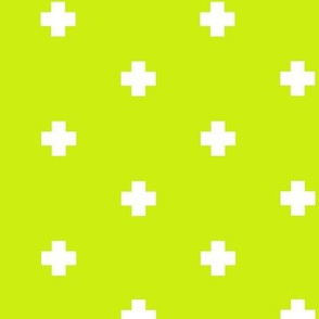 spaced out plus in lime