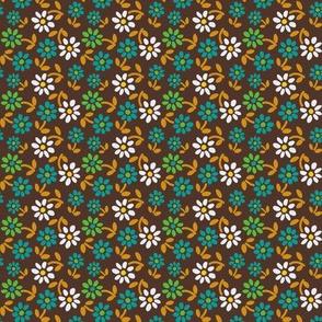 Tiny Flowers - Brown