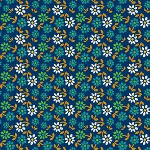 Tiny Flowers - Dark Blue