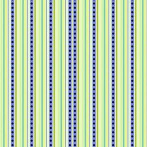 Sweet Garden Flowers! - Coordinating Micro Stripes & Dots! -  © PinkSodaPop 4ComputerHeaven.com