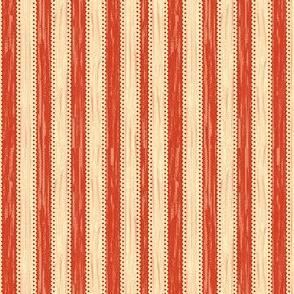 APPLE RED CREAM STRIPE