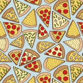 pizza party - blue