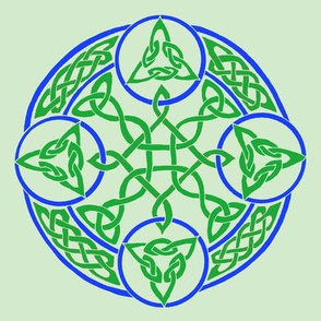 mandala16 green blue