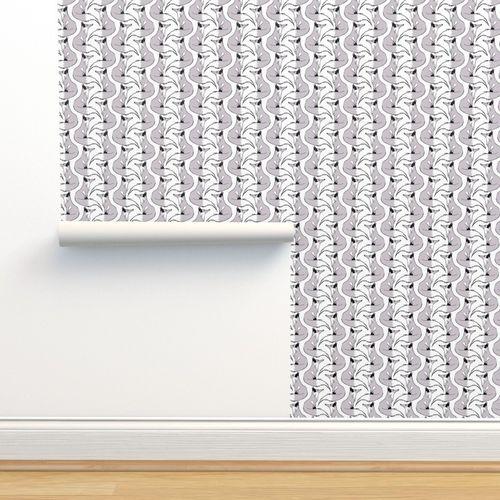 Wallpaper Silver Fox Stripes