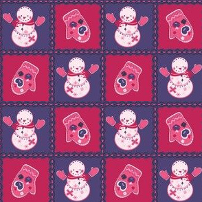 Girly Snowman Quilt