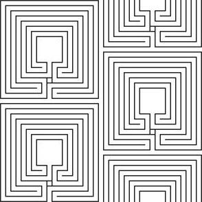 centred cretan labyrinth