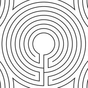 02064209 : circular cretan labyrinth