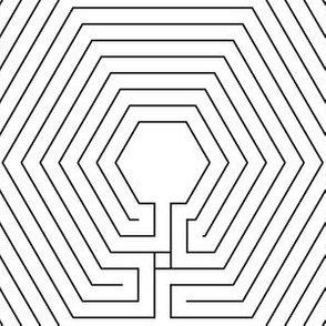 02064240 : hexagonal cretan labyrinth