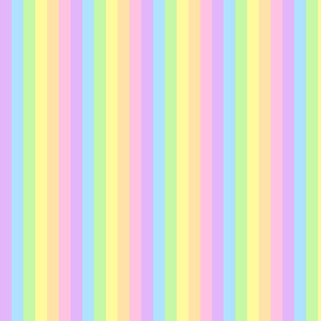 rainbow pastel stripes