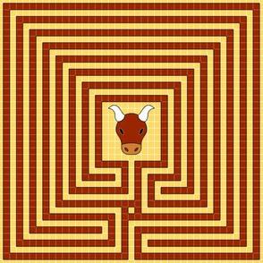 02065162 : mosaic cretan labyrinth