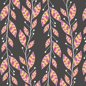 Bouquet Leaves (Charcoal)