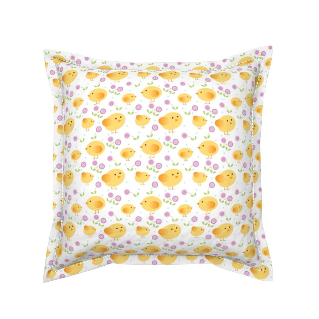 Serama Throw Pillow featuring chicks by cindylindgren