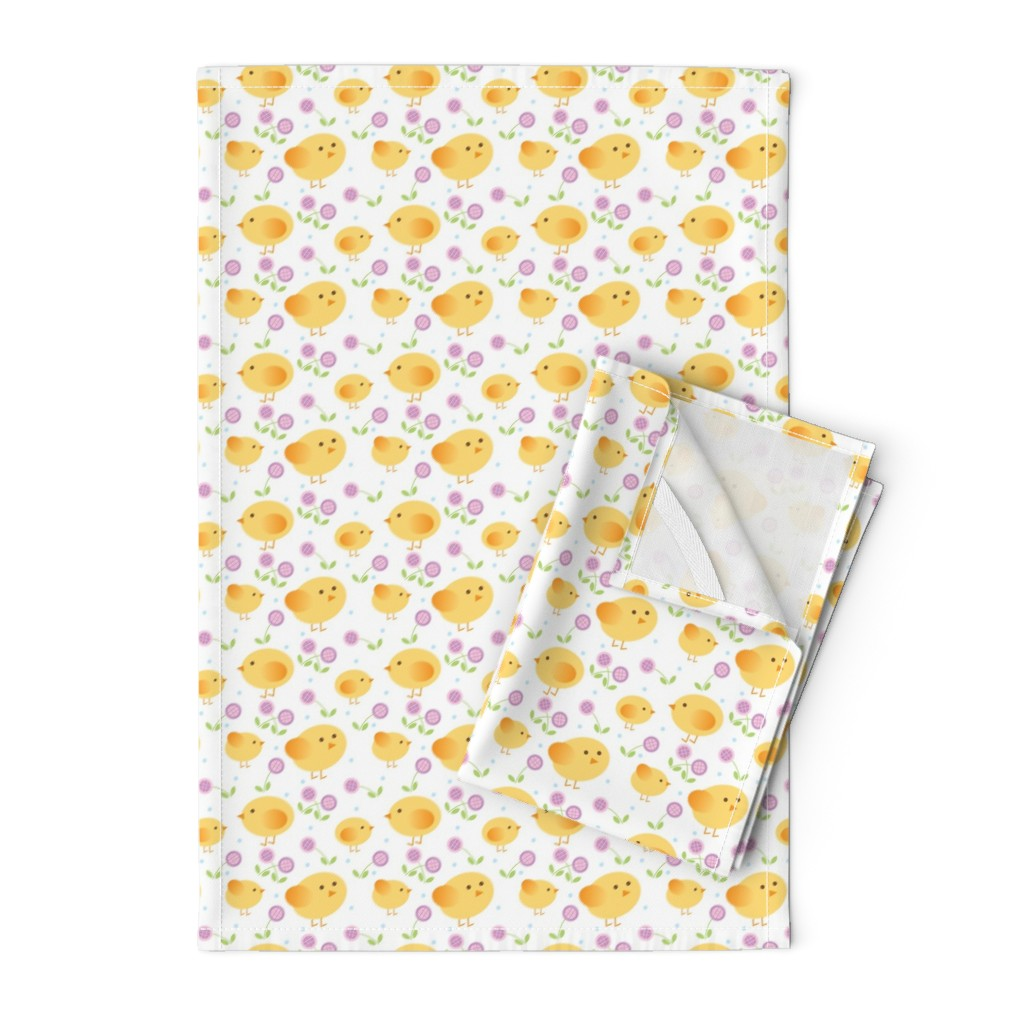 Orpington Tea Towels featuring chicks by cindylindgren