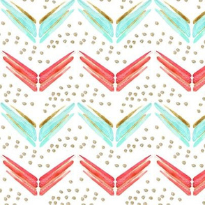 Arrow Chevron in Blues and Pinks