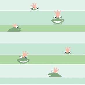 Swimming frog prince