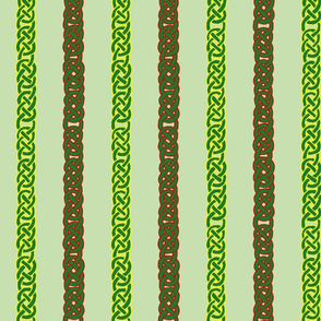 celtic ribbons 1 green