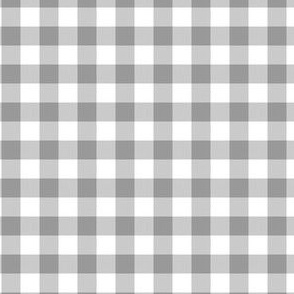 Gingham ~ Grey on Gray