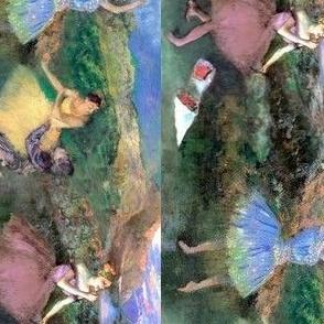 Degas Paintings: Three Ballerinas in One