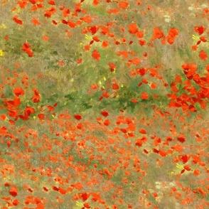 Monet: Poppy Field- Poppies Only Original Palette