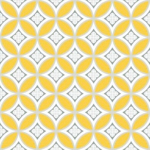 mexican mod tile - sunny yellow