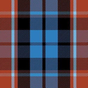 "Graham of Menteith tartan, 9"" red variation, ancient colors"