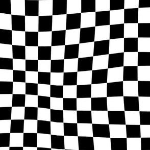 Wavy Checkered Race Flag