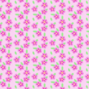 Pink Flowers - Small