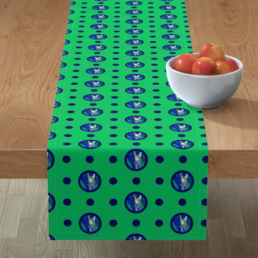 Minorca Table Runner featuring Pin&Pon Popmarlin by joancaronil