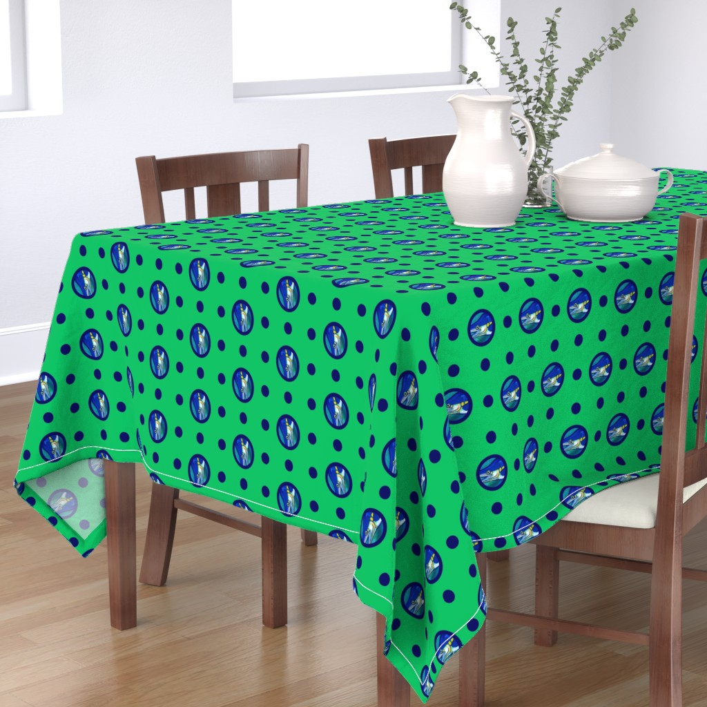 Bantam Rectangular Tablecloth featuring Pin&Pon Popmarlin by joancaronil