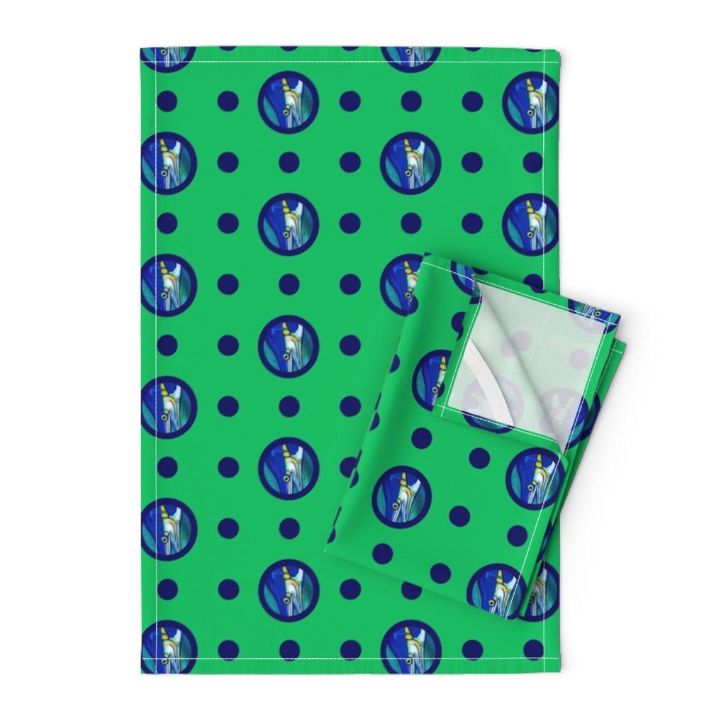 Orpington Tea Towels featuring Pin&Pon Popmarlin by joancaronil