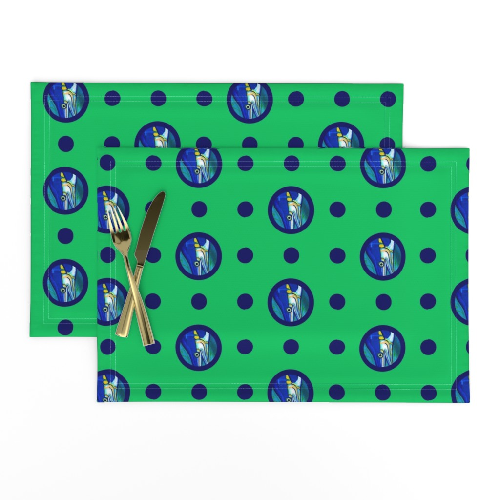 Lamona Cloth Placemats featuring Pin&Pon Popmarlin by joancaronil