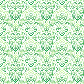 LEAFY LINES mint ice