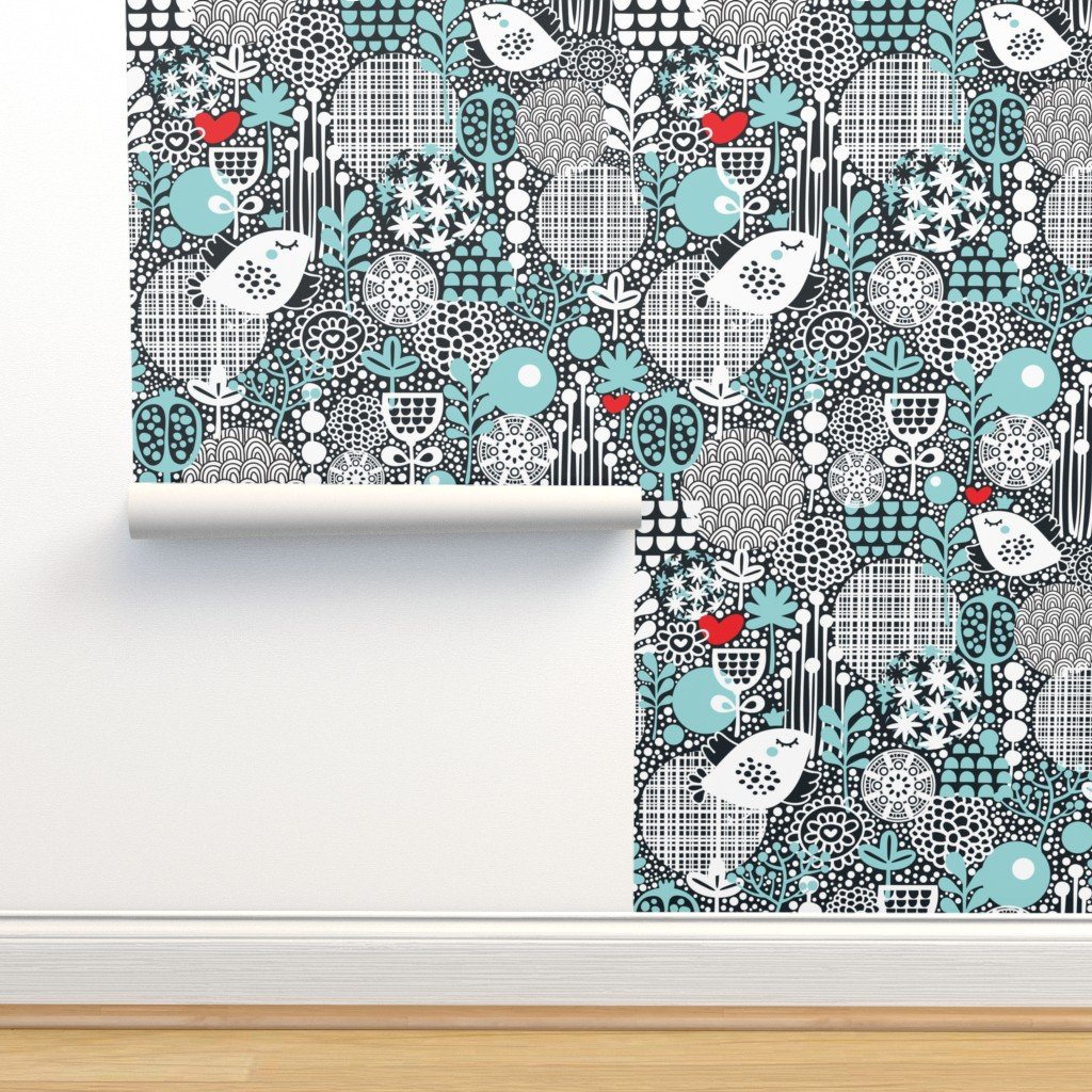 Isobar Durable Wallpaper featuring White birds by panova