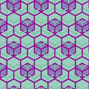 Beehive Mint Periwinkle Fandango